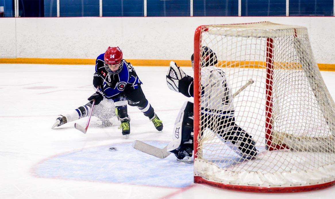 Knights Hockey Shot on Net